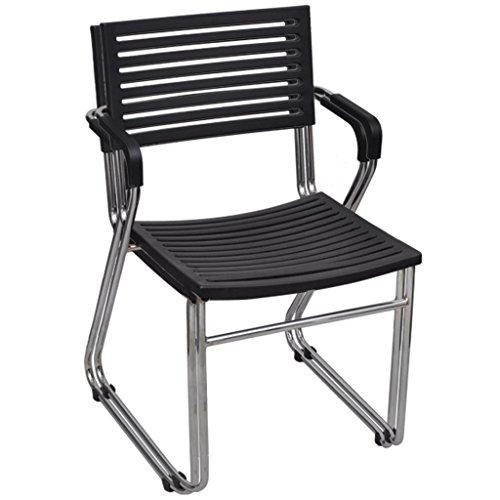 Anself 2 x Stapelstuhl Stapelsessel Balkonstuhl aus Eisen und Plastik