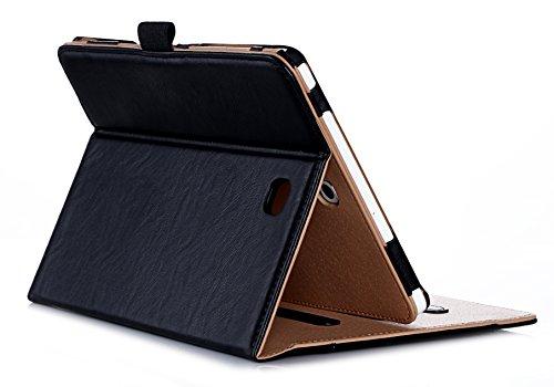 ProCase Housse Samsung Galaxy Tab S2 8.0 - Housse en cuir Housse Folio pour Samsung Galaxy Tab S2 2015 (8.0 pouces, SM-T710 T715 T713) -Noir