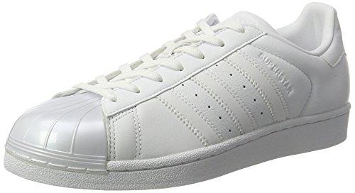 adidas Damen Superstar Glossy Basket, Bianco (Ftwwht/Ftwwht/Cblack), 39 1/3 EU