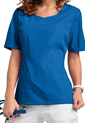 Smart Uniform V-Neck Modern Fit Scrub046 1121 (S, Blau [Blue] 1) -