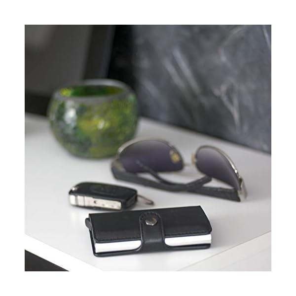 Porta Carte di Credito da Uomo | Portafoglio per Carte di Credito e Banconote con Protezione RFID | Design da Business… 5 spesavip