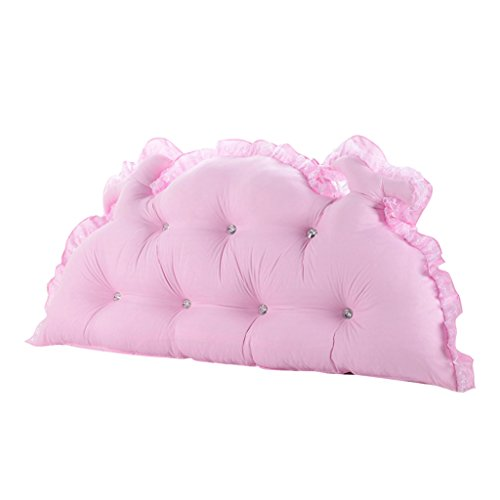 XIANGMING Chambre d'enfants Coussins de chevet bleu et rose oreiller coussins de canapé de chambre à coucher princesse ,120cm diamètre protection taille cou coussins oreiller amovible lavable ( Couleur : Rose )