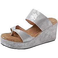 Sandalias Mujer Verano 2018 Casual �� Sandalias de Punta Abierta para Mujer Sandalias de Playa Transpirable Chanclas de Roma Zapatos Casuales cuñas