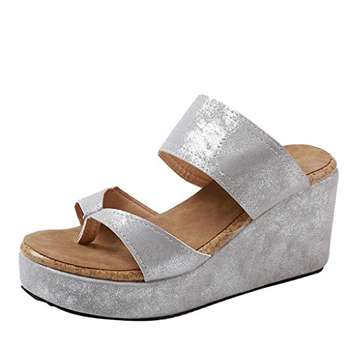 Damen Dicker Boden Schuhe, LeeMon Frauen Open Toe Breathable Strand Sandalen Rom Flip Flops Casual Wedges Schuhe