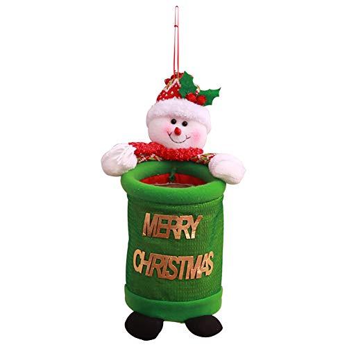 Ulofpc 1pc christmas cloth garbage bin home storage holder santa pupazzo di neve cestino può sprecare borsa da basket