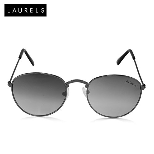 Laurels Royal UV Protected Oval Shaped Black Color Sunglass (Ls-Ryl-020202)