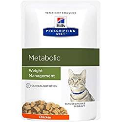 HILL'S Metabolic Weight Management chat - 12 Sachets de 85g