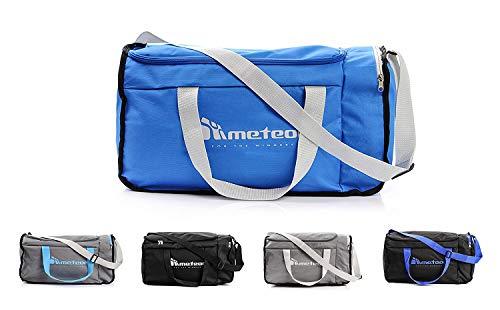 meteor® Moderna Bolsa de deporte para fitness gym vacaciones 20L y 40L Bolsa de viaje vacaciones bolso Fitness Correa Bolsa Deporte varios colores (40L, Azul / gris)