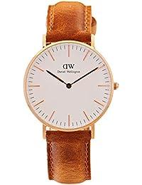 Daniel Wellington Classic Damen-Armbanduhr Analog Quarz Leder - DW00100111