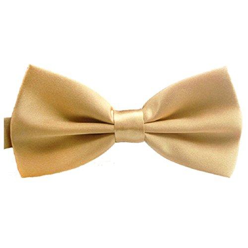 Reglable Cravate - SODIAL(R)La Nouveaute De La Mode Classic Mens Reglable Mariage De oking Cravate Noeud Papillon Champagne