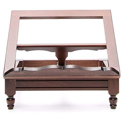 Stock Tischpult aus dunkel Holz