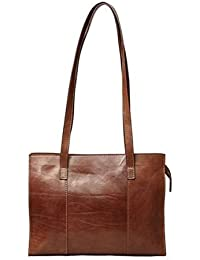 Generic Women's & Girl's Leather Hand Bag (Brown)