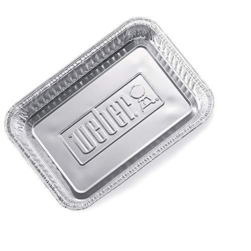 Weber Alu, klein, 10 Stück Tropfschale, Silber