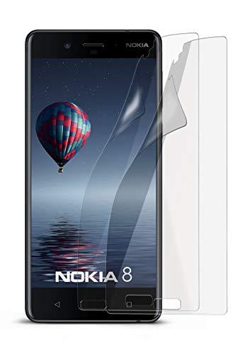 2X Nokia 8 | Schutzfolie Matt Display Schutz [Anti-Reflex] Screen Protector Fingerprint Handy-Folie Matte Displayschutz-Folie für Nokia 8 Displayfolie (Nokia X Screen Guard)