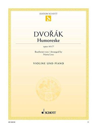 Humoreske: op. 101/7. Violine und Klavier. (Edition Schott Einzelausgabe)