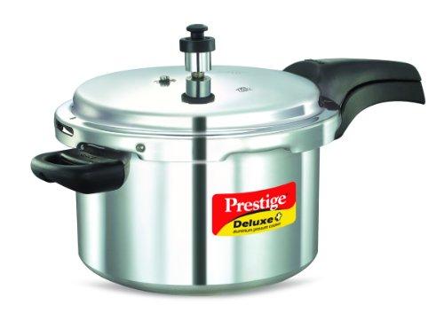 Prestige Deluxe Aluminum Pressure Cooker, 5-Liter by Prestige