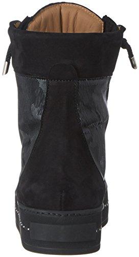 Franco Russo Napoli Damen 2932-1 Hohe Sneaker Schwarz (Nero)