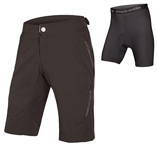 Endura Singletrack Lite Herren Baggy MTB Shorts II mit rutschsicher, Herren, Schwarz, XX-Large (Cannondale Herren Fahrrad)
