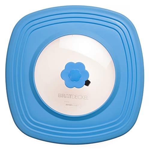 Kochblume - Bratdeckel blau - quadratisch 32 cm original - Spritzschutz