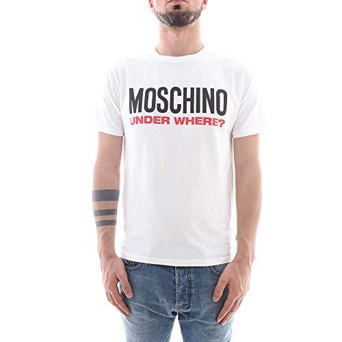 Moschino uomo t shirt a1917 8133 1, 1 bianco, m