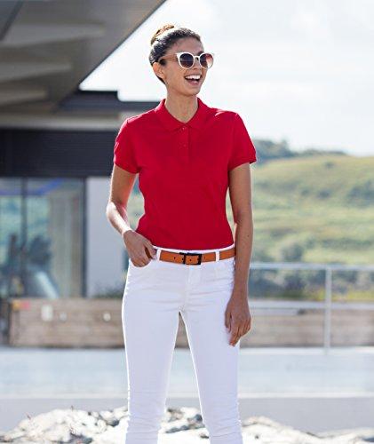 Henbury Femmes Micro-Fine Piqué Chemise Polo Classique Rouge