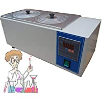 EnweNge Baño De Agua De Laboratorio Digital, Termostático Digital Baño De Agua Laboratorio, 600w, con 2 Aberturas, con Función De Temporización RT a 100 ℃, para Laboratorio Comercial