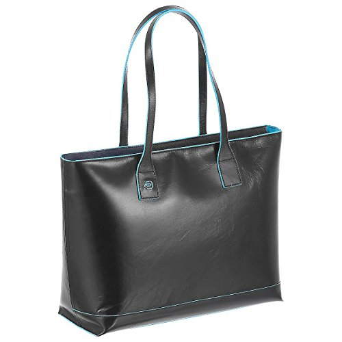 Piquadro Shopping bag orizzontale con porta iPad®mini Nero Blue Square BD3336B2/N
