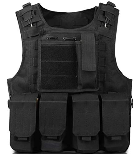 MILEEO Kinder Tactical Weste, Nylon Outdoor Multifunktion Weste Verstellbare Outdoor CS Spiel Airsoft Angelweste ZS02 - Kinder Für Softair Weste