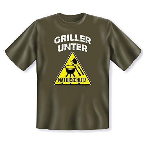 T-Shirt ::: Griller unter Naturschutz ::: Kaki Kaki