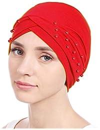 Gorra Turbante elegante para mujeres Gorro Turbante Sombrero de pelo Turbante Pañuelos para la cabeza Diademas Accesorios de peinado pañuelo de pelo Skullies Barbijo verano Sombrerería Chemo Cap