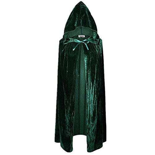 Neuer Unisex Halloween Umhang, Hexe Hoodies Cosplay Party Kostüm (Armeegrün)