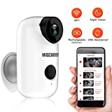 Wireless WiFi Home Security Camera System with PIR Motion Detection, Rechargeable Battery Powered