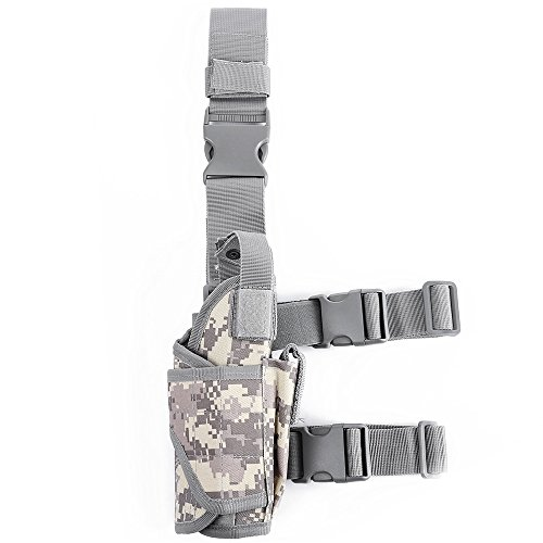 Zhuhaimei,Outdoor Multifunktions-Camouflage Holster Taille Beinbeutel(color:ACU CAMOUFLAGE)