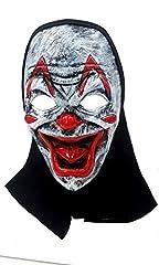 Idea Regalo - PICCOLI MONELLI Maschera clown killer horror assassino joker con cappuccio
