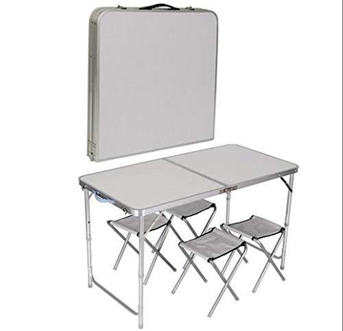 YUWEN Küche Esszimmer Garten Outdoor Camping Klapp Portable 4 Stuhl Tisch Set,C (Buffet-tisch Zum Verkauf)