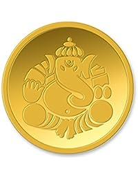 Kundan 24k (999.9) Lord Ganesh 8 gm Yellow Gold Coin
