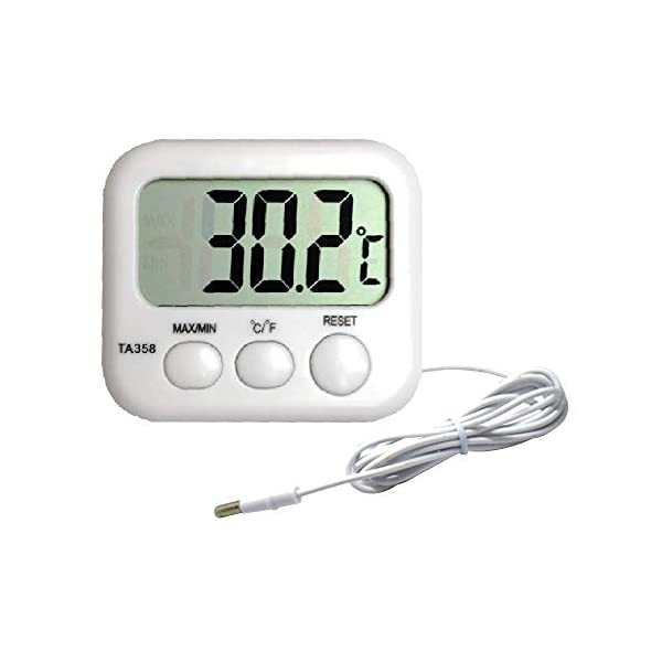 HIHUHEN Aquarium thermometer with Incorporates a max & min temperature recording function – displays tank water…