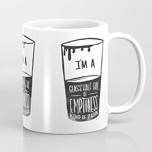 Bicchiere mezzo pieno di Emptiness-Tazza da caffè, 11 Oz