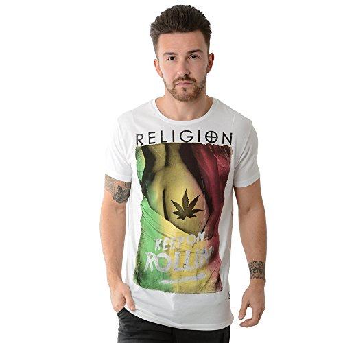 Religion MBKRG05013 Keep on Rollin T-Shirt - White White
