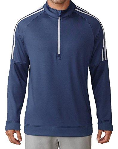 adidas Herren Golf Quarter-Zip Sweater, Herren L grau -