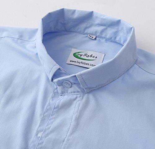 Ivyrobes -  Camicia classiche  - Alla francese  - Uomo Celeste