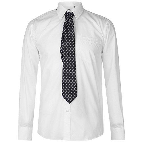 Pierre Cardin Mens Shirt Tie Set Long Sleeve Regular Fit