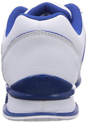 K-Swiss RINZLER SP 02283-M Herren Sneaker Weiß (WHITE/CLSCBLUE/BRTMARIGOLD 122)