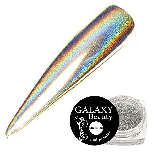 Galaxy Beauty - Espejo holográfico, color rosa, verde, azul, rojo, dorado, plateado, color unicornio, cromo, polvo de uñas con purpurina, pigmento brillante