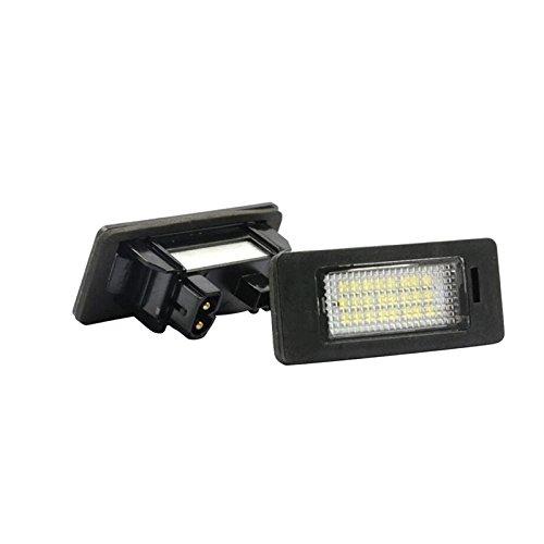 Sunnyshinee - Leuchtmittel 24LED Auto Ersatz Kennzeichenbeleuchtung Lampe Weiss für BMW E82E90E92F30E46