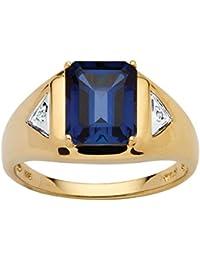 AFFY Plata de ley (925/1000) Plata chapada en oro amarillo de 18 K redondo negro diamante blanco diamanre negro VhHu49eAHK