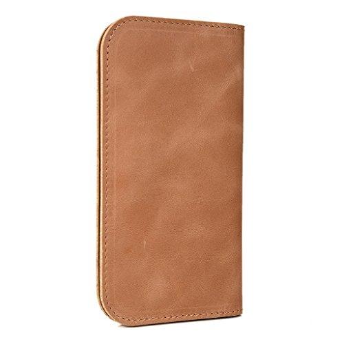 Étui portefeuille en cuir véritable pour Acer Liquid Z220/Z4Housse noir - noir Brun - peau