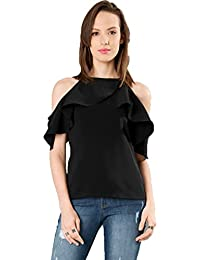 J B Fashion Women Tunic Short Top For Jeans Plain Diamond Creap Top For Daily wear Stylish Casual and Western Wear Women / Girls Top
