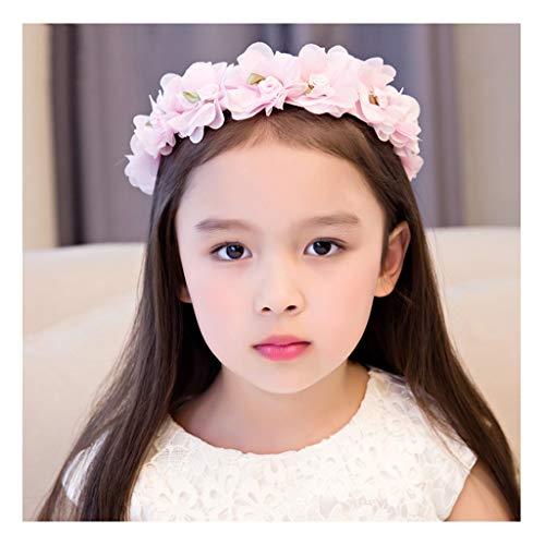 Exklusives Brautkleid (Blumenkranz Corolla Stirnband weiß koreanische einfache Größe einstellbar Kinderkopf Blume Stirnband Baby Schleier Brautkleid Schmuck (Color : B))