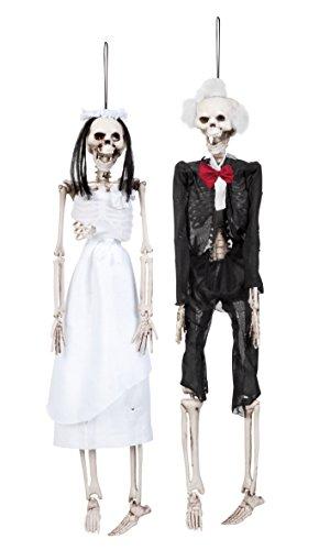 ldeko Skelett Braut oder Bräutigam, Dekorationen, 2-Fach sortiert, ca. 42 cm (Skelett Braut)